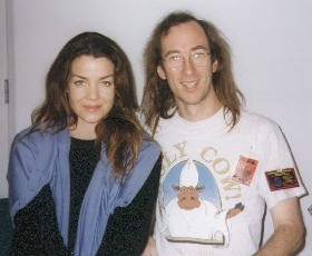 Claudia Christian, who played Ivanova on B5, and me